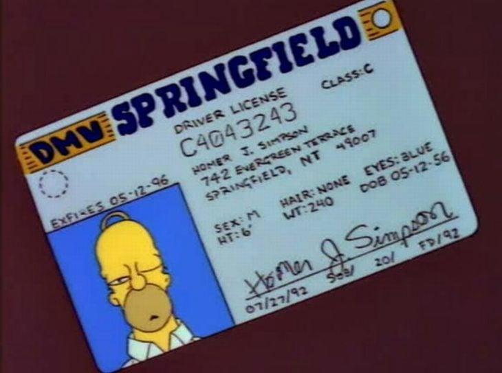 Licencia de Homero
