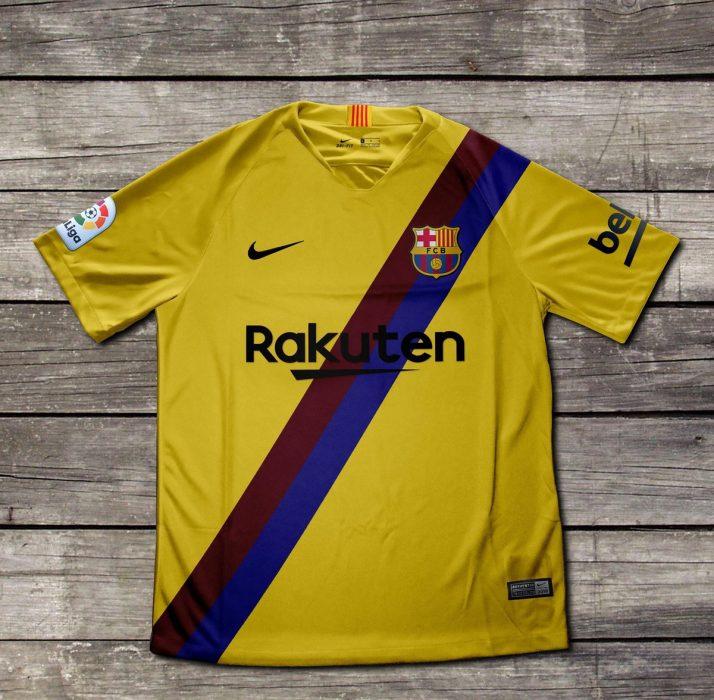Barcelona jersey visitante
