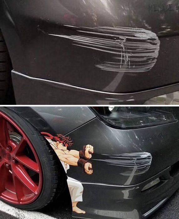 golpes a autos