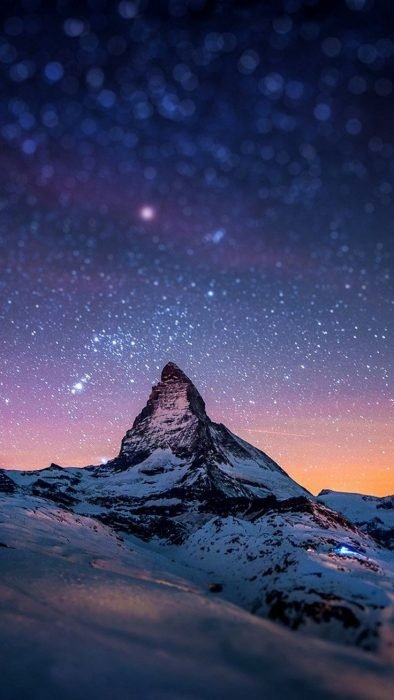 Fondos de pantalla naturaleza montaña y estrellas