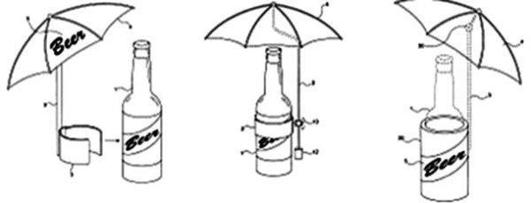 inventos con patente sombrilla cerveza