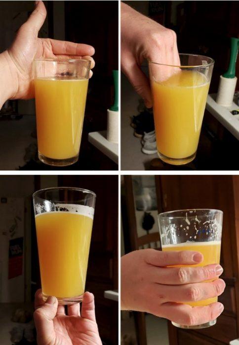 Peor forma de sostener la bebida