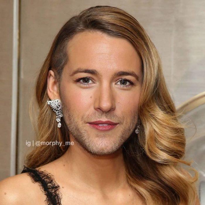 Mezcla de rostros de celebridades