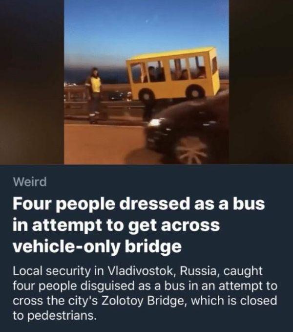 cosas raras en rusia puente