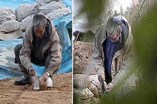 Arqueólogo que enterraba fósiles