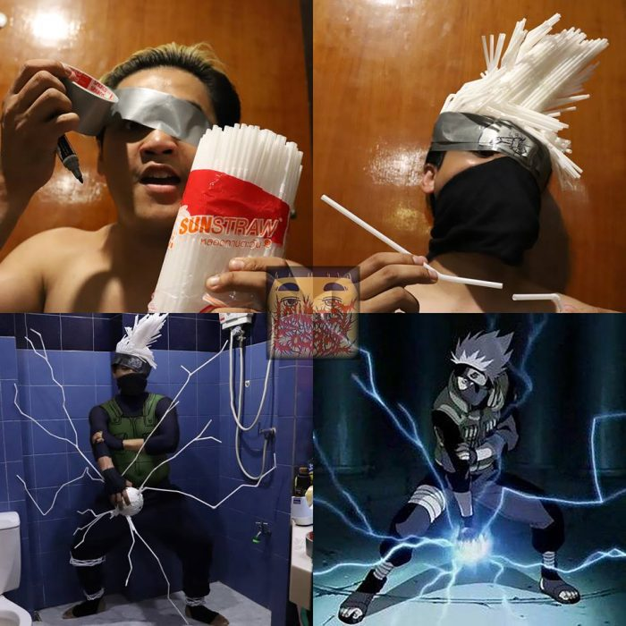 cosplay de bajo costo kakashi