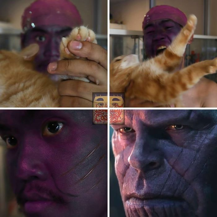 cosplay de bajo costo thanos