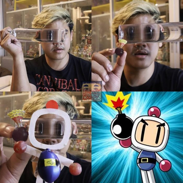 cosplay de bajo costo bomberman
