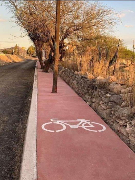 Malos diseños pista bicicleta