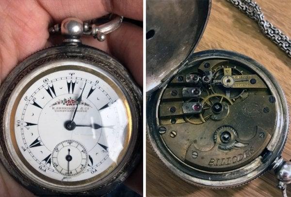 Objetos antiguos que aún sirven reloj de bolsillo