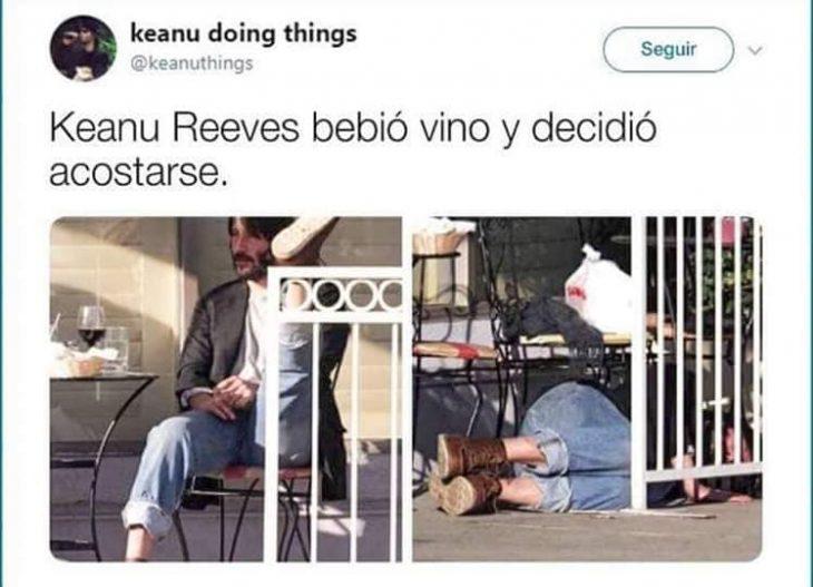 Keanu Reeves haciendo cosas