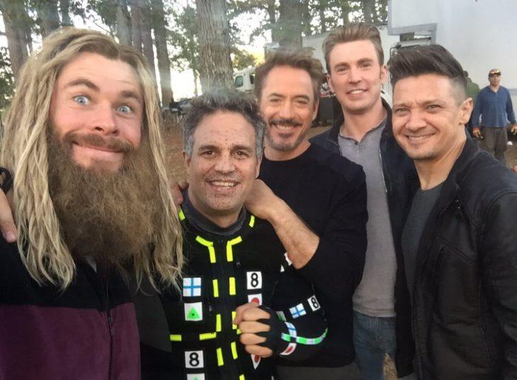 Chris Evans y los avengers