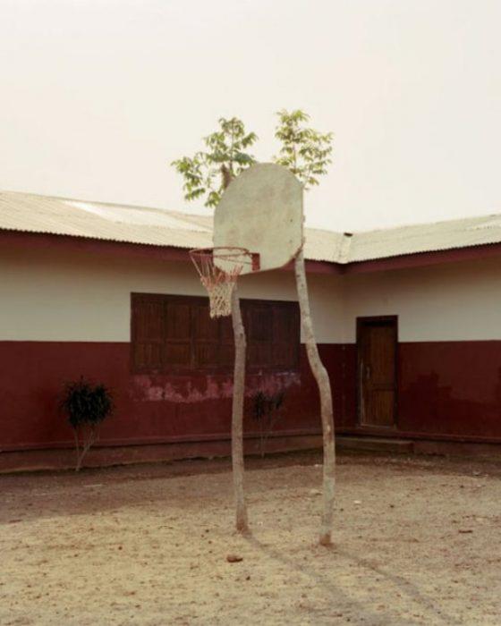 genios de bajo presupuesto tablero baloncesto