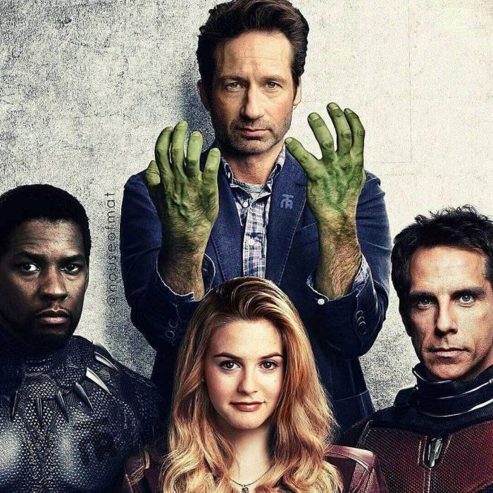 Reparto de Avengers en los noventas