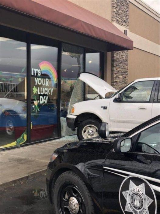 coches en un mal día de suerte