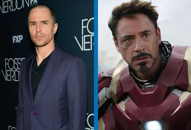 Sam Rockwell como Iron Man