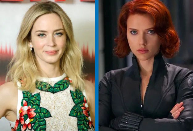 Emily Blunt como Black Widow
