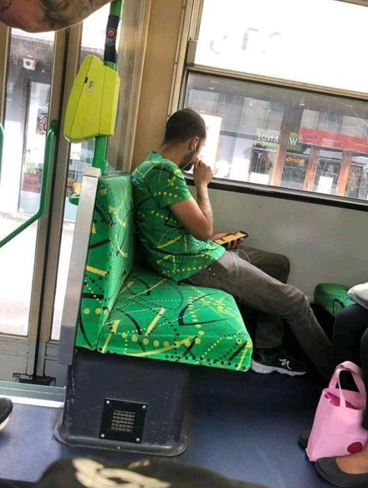 Imágenes de extrañas coincidencias autobús