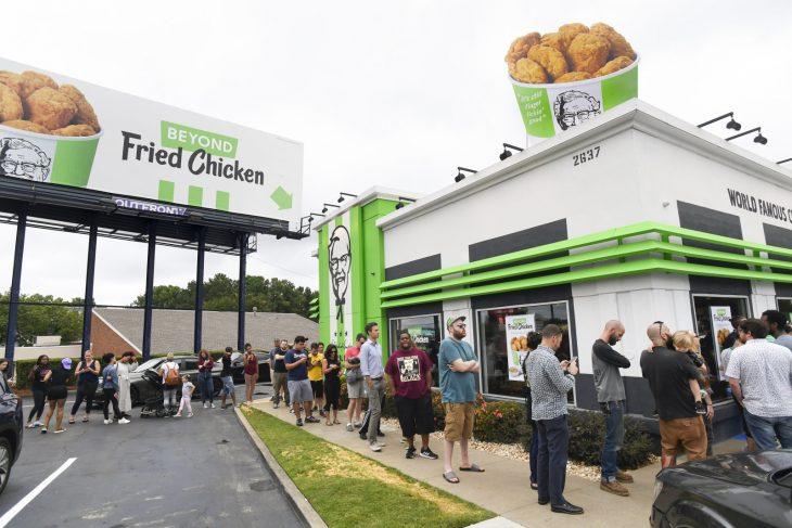 KFC pollo vegano