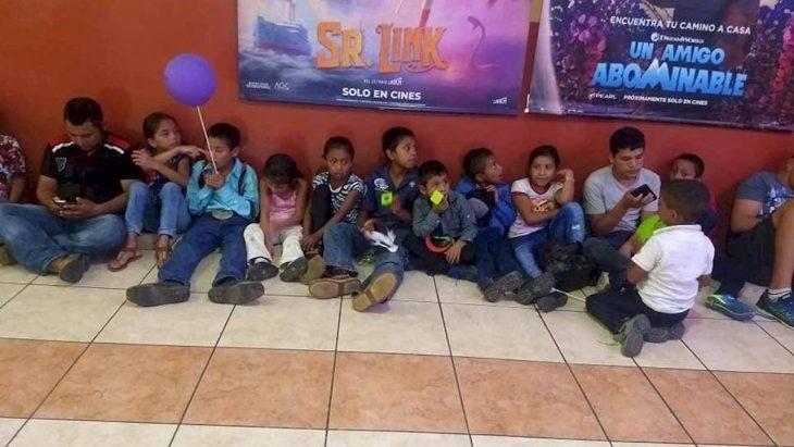 niños en el cine