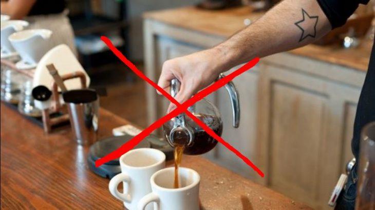 no café