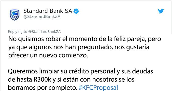 kfc propuesta banco