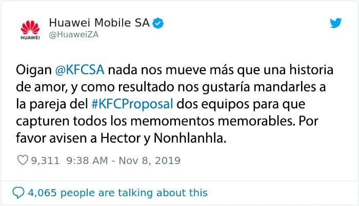 kfc propuesta huawei