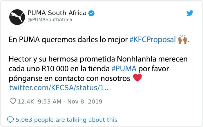 kfc propuesta puma