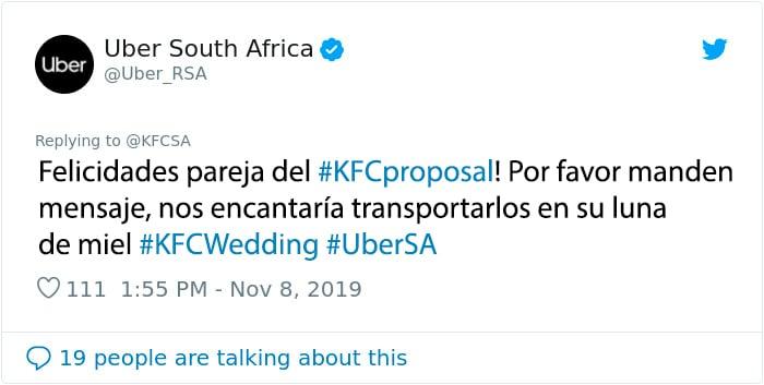 kfc propuesta uber