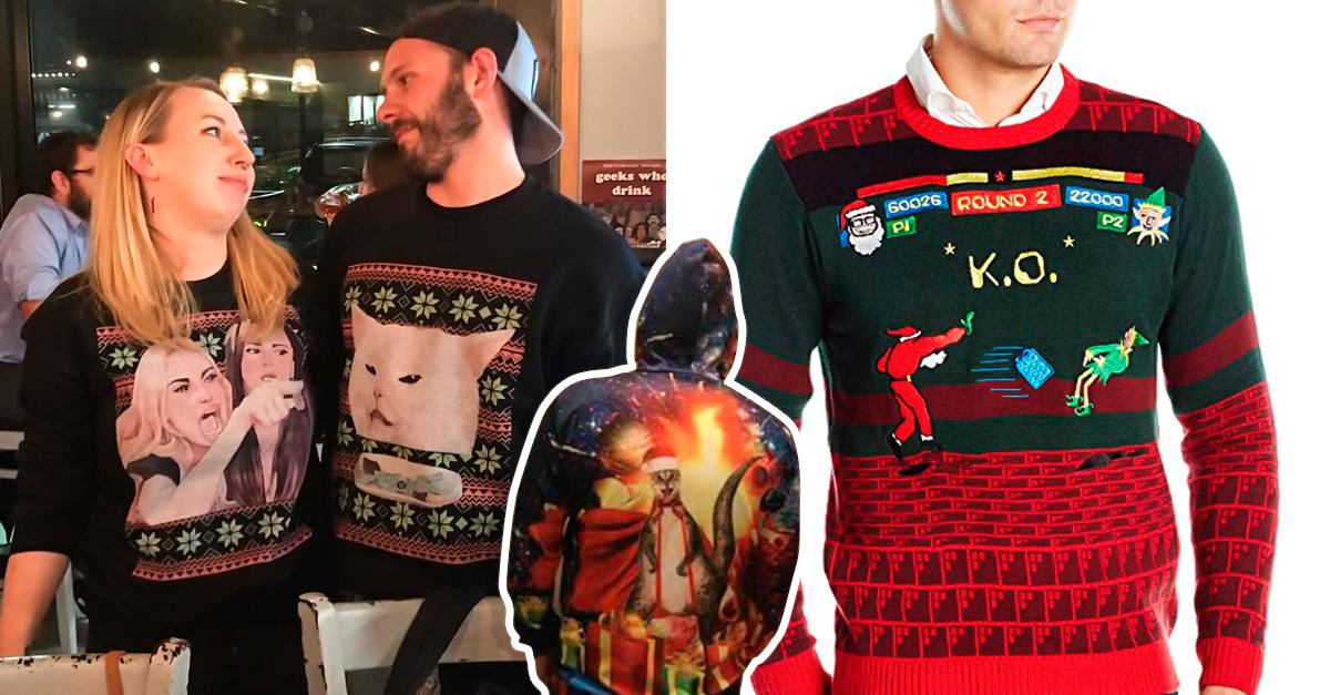 Compra Feo suéter rojo online al por mayor de China