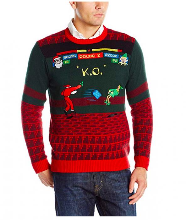 suéter feo