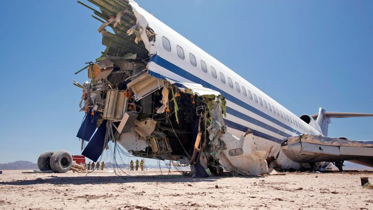 avión chocado