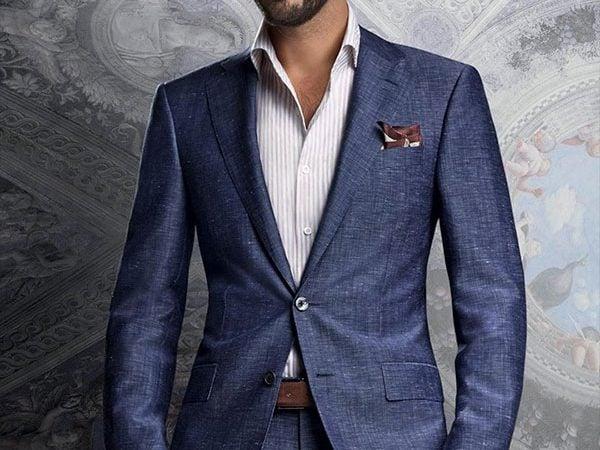 traje sin corbata