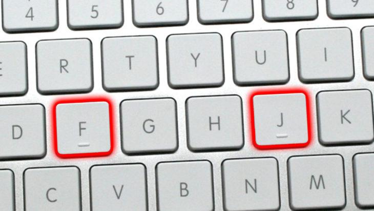 Protuberancias en el teclado