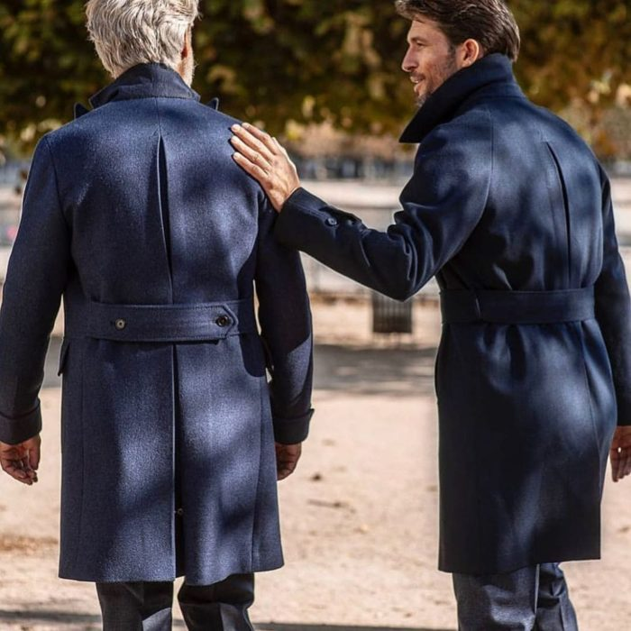 cinturones en abrigos