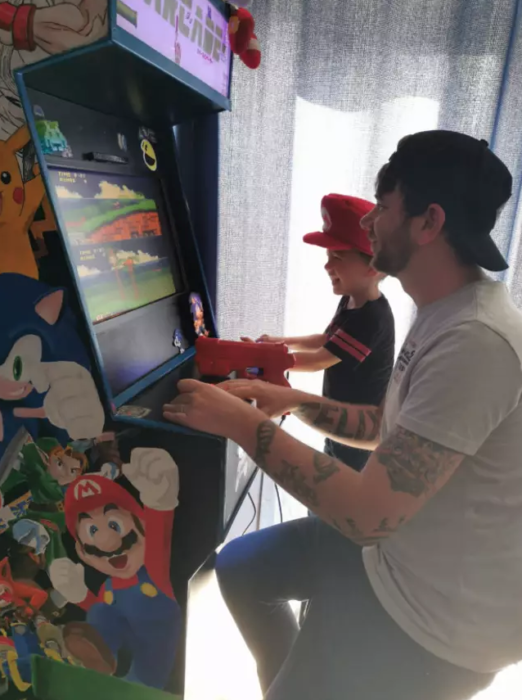 padre e hijo arcade