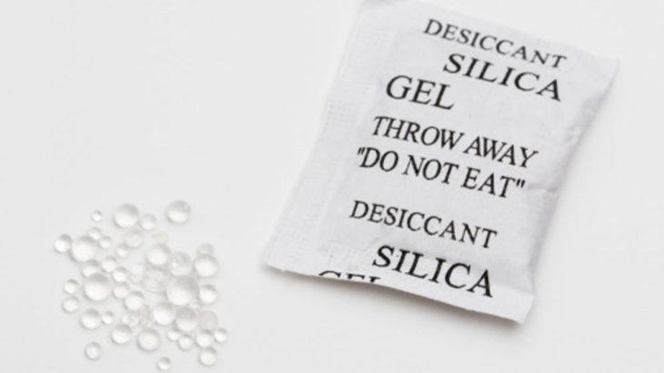 paquetes de silicona en las bolsas