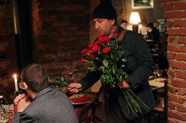 vendedor de rosas