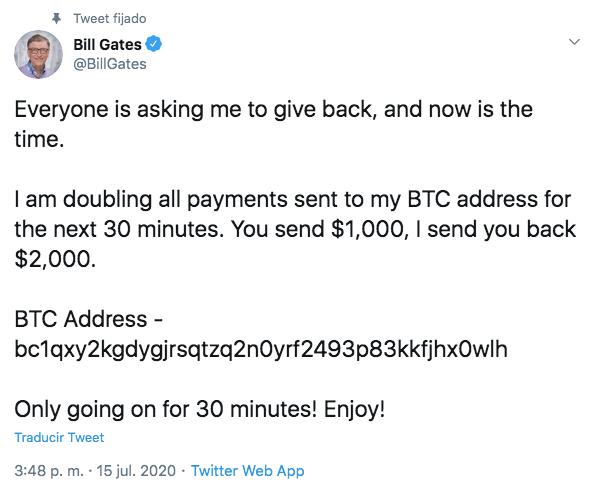 bill gates twitter estafa