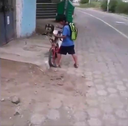 niño perrito cubrebocas