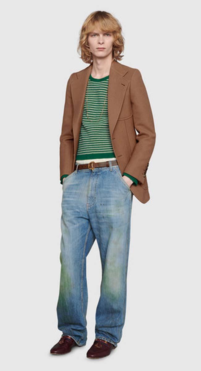 Gucci Lanza Estos Pantalones Descoloridos Y Manchados De Hierba A 773 Nada Mas En Portada