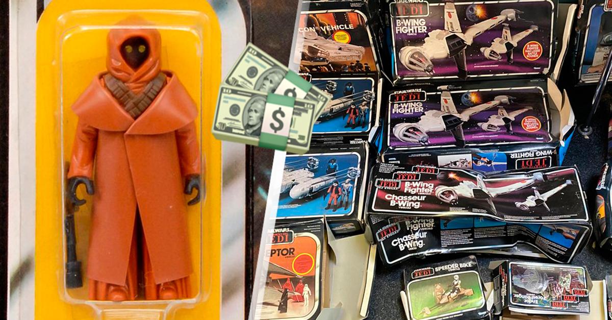 Pareja heredó juguetes Star Wars que valían una fortuna