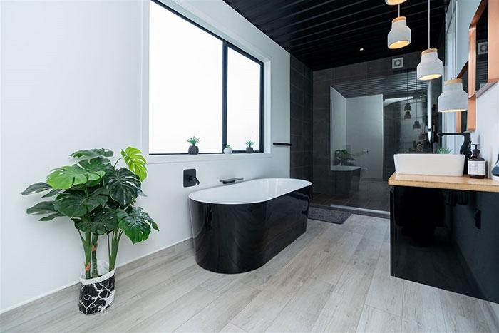 baño casa contenedores