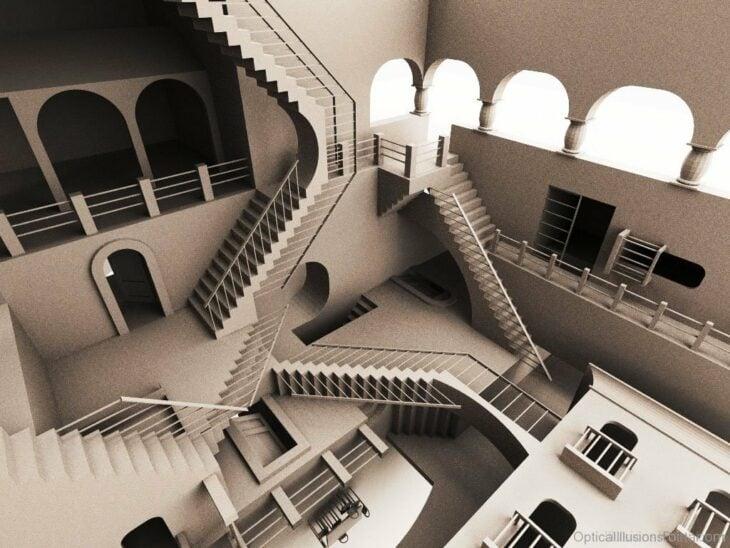 escaleras ilusión