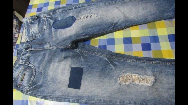 pantalones parchados