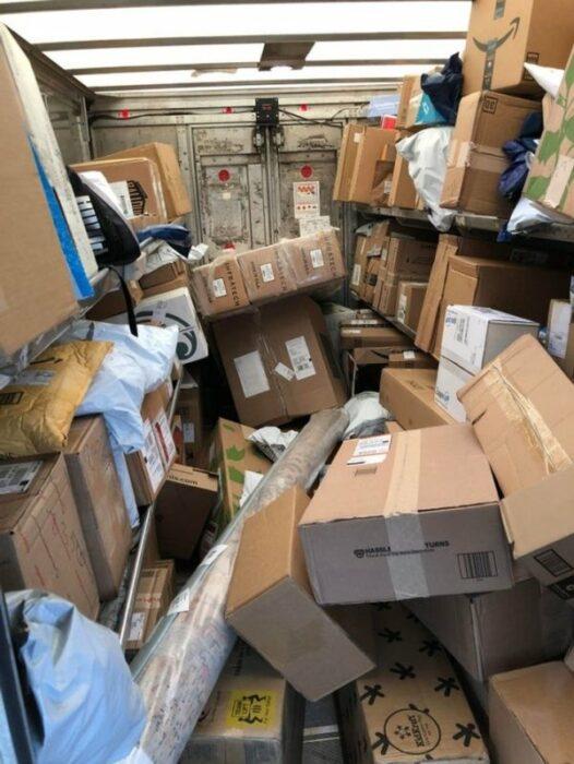 paquetes maltratados