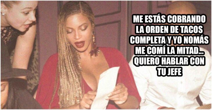 Beyonce y camarera grosera