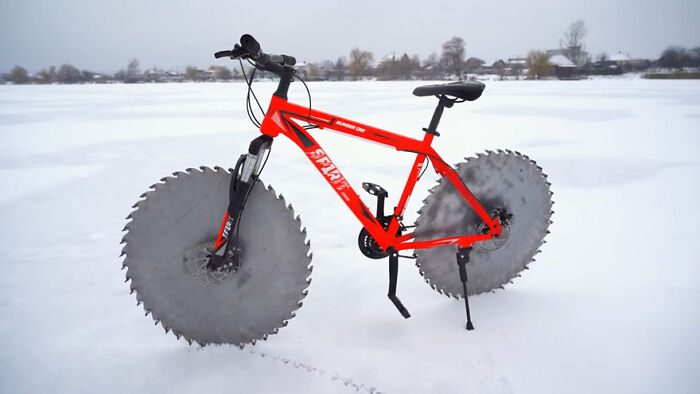 bicicleta hielo