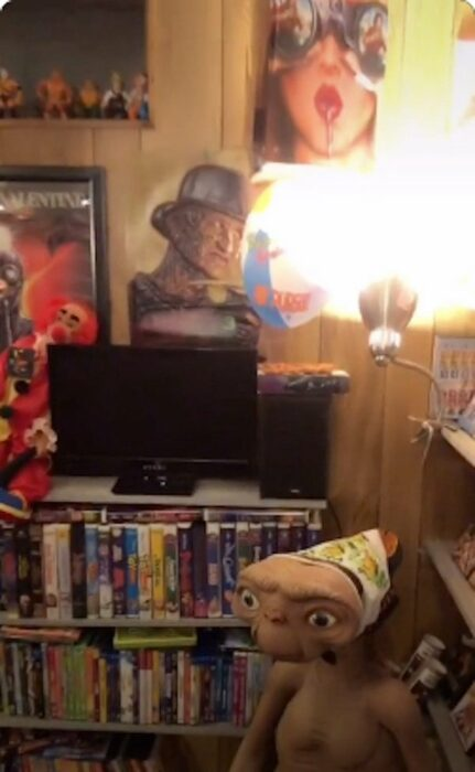 videocentro en su sótano