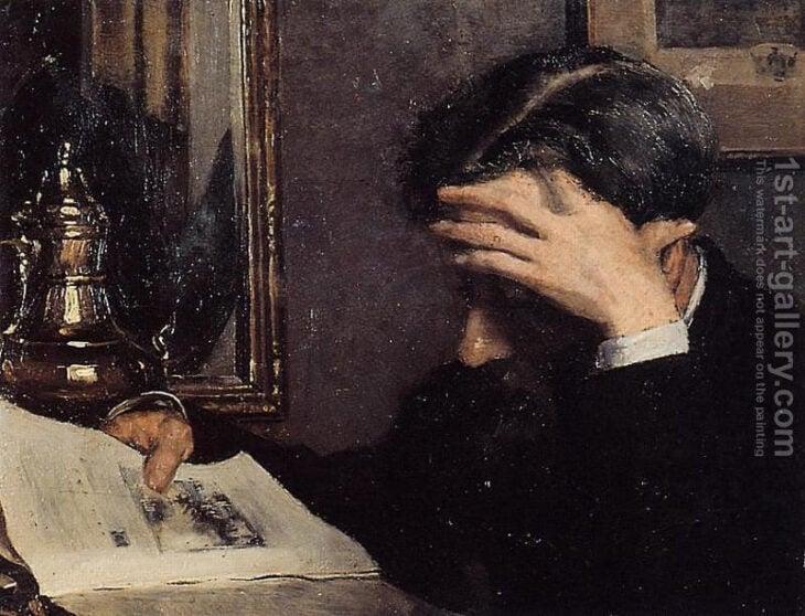leyendo pintura